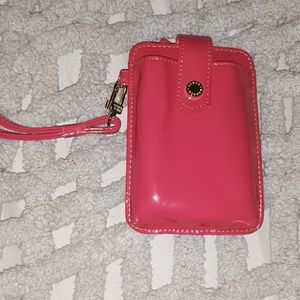 Red steve madden card holder